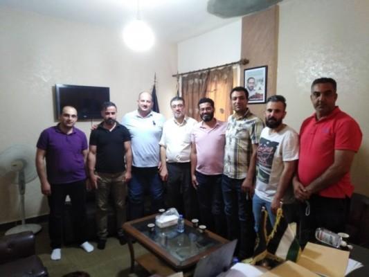 العينا يستقبل وفدا من اتحاد المعلمين الفلسطينيين في  الأونروا