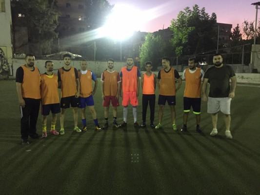 مباراة ودية بين نادي شهداء جنين ونادي القدس في مخيم البداوي