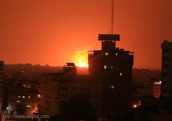 طائرات الاحتلال تقصف موقعاً للمقاومة شمال غزة