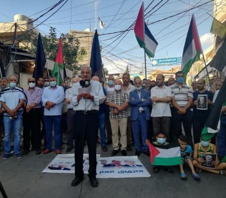 وقفة احتجاجية في  برج الشمالي  رفضا للاتفاق الإماراتي الصهيوني