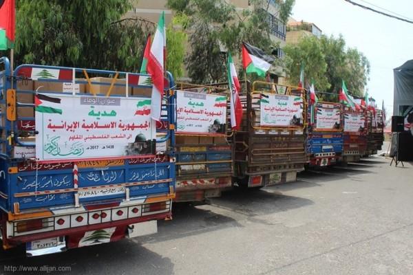 توزيع السلة الرمضانية الايرانية على المخيمات الفلسطينية في لبنان