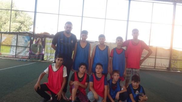 حصة تدريبية لنادي فتيان شهداء جنين في مخيم البداوي