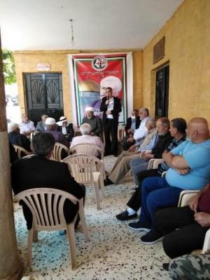حفل تأبين للمفكر والمناضل حسين أبو النمل في بلدة الحنية