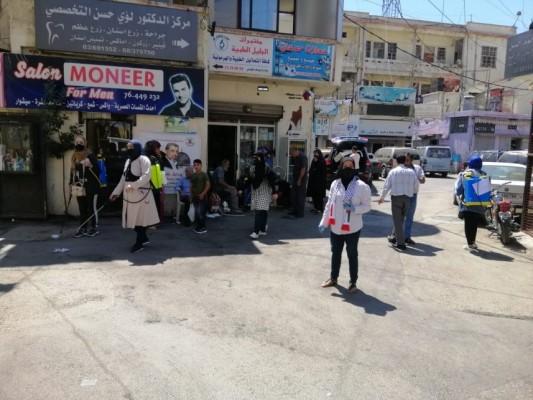حملة تعقيم في مخيم الجليل - بعلبك