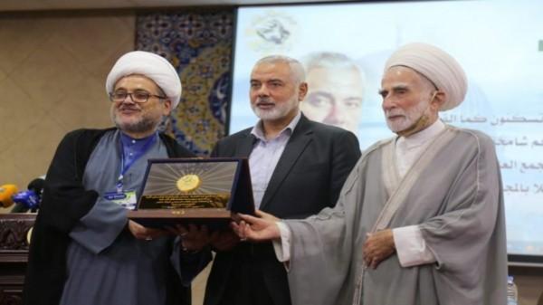 هنية يلتقي  العلماء المسلمين  و علماء المقاومة : التطبيع اعتداء صارخ على الأمة