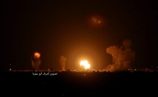 طائرات إسرإئيلية تشن سلسلة غارات على غزة والمقاومة ترد بقصف المستوطنات فلسطين اليوم - غزة
