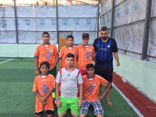 مباراة ودية بين نادي فتيان جنين-مخيم البداوي وأكاديمية أبو يوسف-جبل محسن