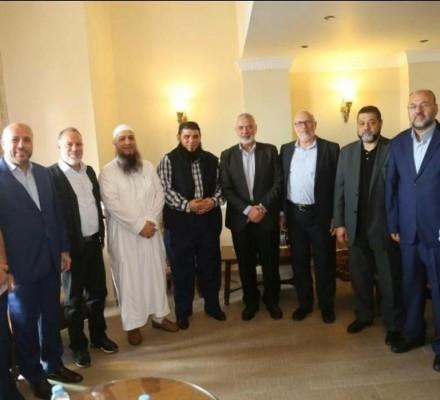 هنية يستقبل قيادة  عصبة الأنصار الإسلامية  في بيروت