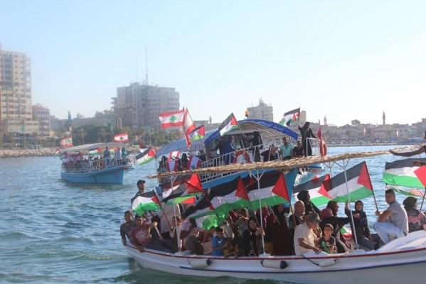 لجان العمل في المخيمات تنظم مسيرة بحرية بمناسبة يوم القدس العالمي
