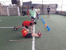حصة تدريبية لنادي القدس الرياضي-مخيم البرج الشمالي صور