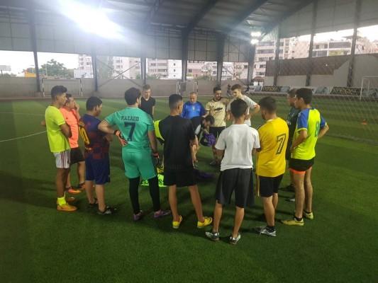حصة تدريبية لنادي شباب العهد الرياضي صيدا