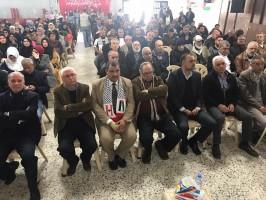 وفد من لجان العمل في المخيمات يشارك في احتفال  احيته الجبهة الديمقراطية لتحرير فلسطين