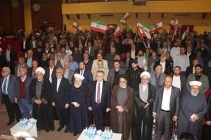 الاتحاد العالمي لعلماء المقاومة وتجمع العلماء المسلمين تقيمان احتفالا تضامنيا مع الحرس الثوري الايراني