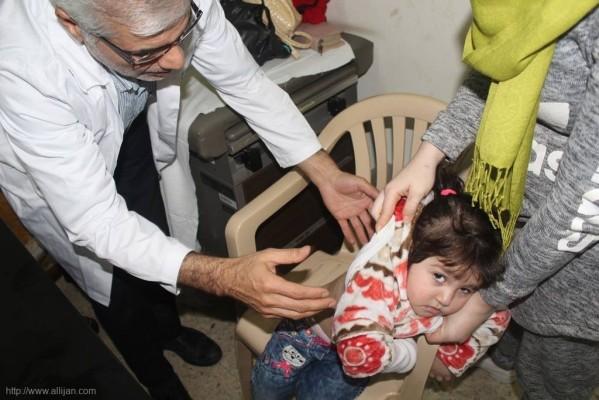 بمناسبة الذكرى الأربعين لإنتصار الثورة الاسلامية المباركة في إيران  الله يوماً صحيا مجانيا تخصصيا دعماً للشعب الفلسطيني الصامد في مستشفى حيفا مخيم برج البراجنة