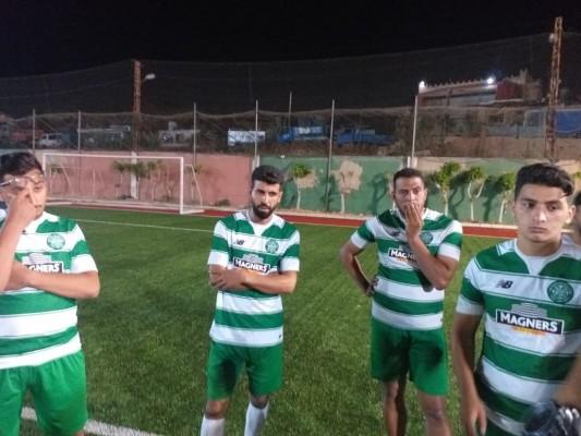 مباراة ودية بين نادي شهداء الاقصى-مخيم برج البراجنة ونادي الأهلي بيروت