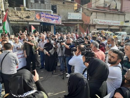 وقفة احتجاجية في مخيم برج البراجنة