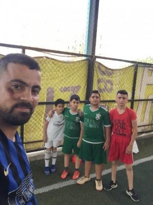 حصة تدريبية لنادي شهداء جنين في مخيم البداوي