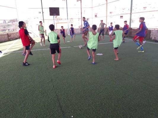 حصة تدريبية لنادي القدس الرياضي في مخيم البرج الشمالي صور