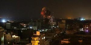 سلسلة غارات على قطاع غزة فجر اليوم