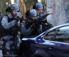 طفلان فلسطينيان أصيبا برصاص العدو الاسرائيلي بمخيم الجلزون