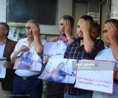 صحفيو غزة يتضامنون مع اعلامي فقد عينه جراء اعتداء العدو الاسرائيلي