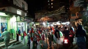 مسيرة جماهيرية في مخيم البداوي