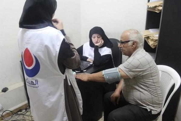 اليوم الصحي مستشفى حيفا بمخيم برج البراجنة