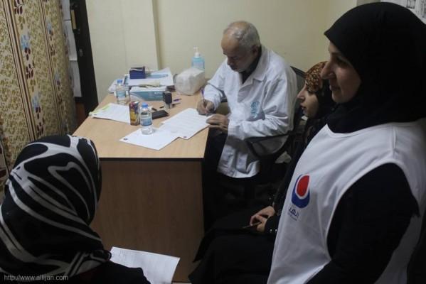 يوماً صحيا مجانيا تخصصيا دعماً للشعب الفلسطيني الصامد في روضة زهرة المدئن بمخيم شاتيلا