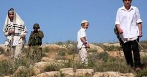 اصابة شاب فلسطيني برصاص المستوطنين الصهاينة في بورين بنابلس