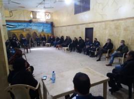 حملة آمنون بالتنسيق مع لجان العمل في المخيمات مع الاخ ابو ياسر في مخيم البداوي تقوم بجلسه تناقش فيها كيفية العمل داخل المخيم .