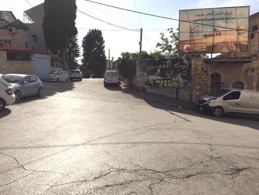 شوارع فلسطين الحبيبة تتزين بشعار اخر جمعة من شهر رمضان