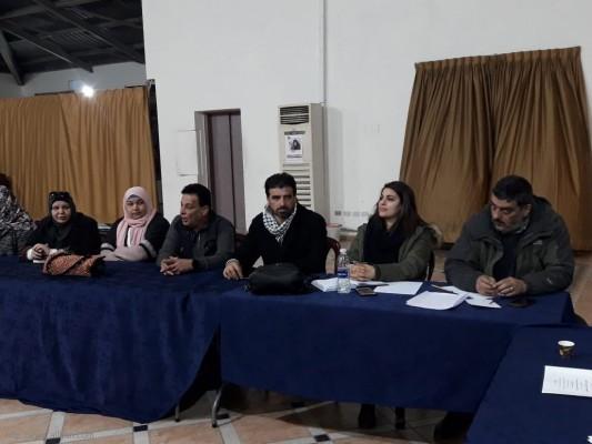 لقاء في بلدية الغبيري وذلك لاجل التحضير لمعرض التراث الوطني الفلسطيني الثاني عشر