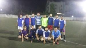 مباراة ودية بين نادي شهداء جنين ونادي فتيان القبة في مخيم البداوي