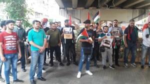 اللقاء الشبابي اللبناني الفلسطيني ينظم وقفة في ساحة القدس
