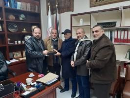 زيارة لجمعية الهلال الاحمر الفلسطيني